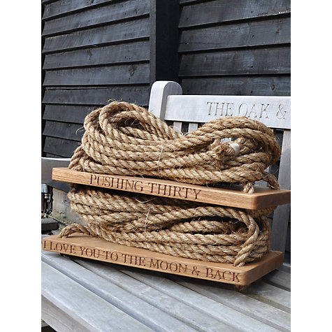 Buy The Oak And Rope Company Personalised Swing, Medium Online at johnlewis.com
