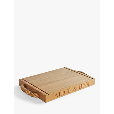 The Oak And Rope Company Personalised Classic Chopping Board, Medium