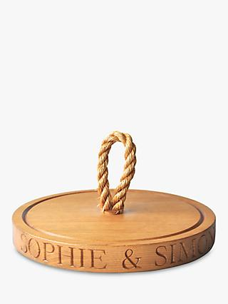 The Oak And Rope Company Personalised Thin Round Chopping Board