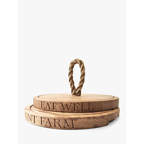 Buy The Oak And Rope Company Personalised Thin Round Chopping Board Online at johnlewis.com