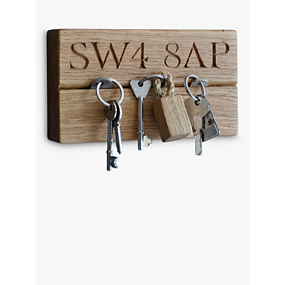 The Oak And Rope Company Personalised Horizontal Key Organiser