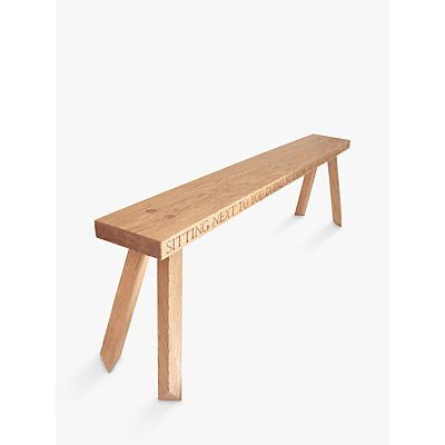 Image of The Oak And Rope Company Personalised 4-Seater Garden Bench, Oak