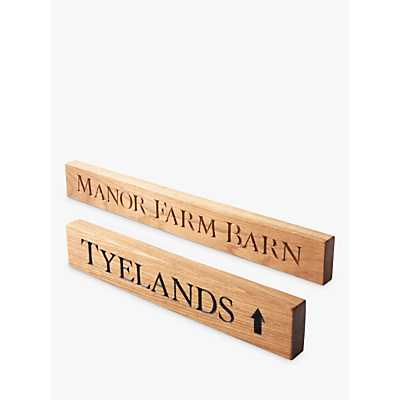 The Oak And Rope Company Personalised House Sign