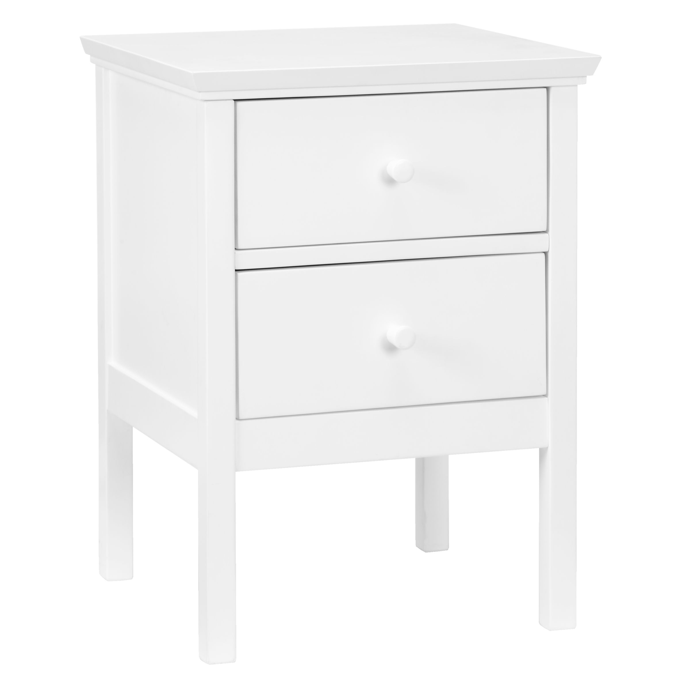 John Lewis & Partners Wilton 2 Drawer Bedside Cabinet, White