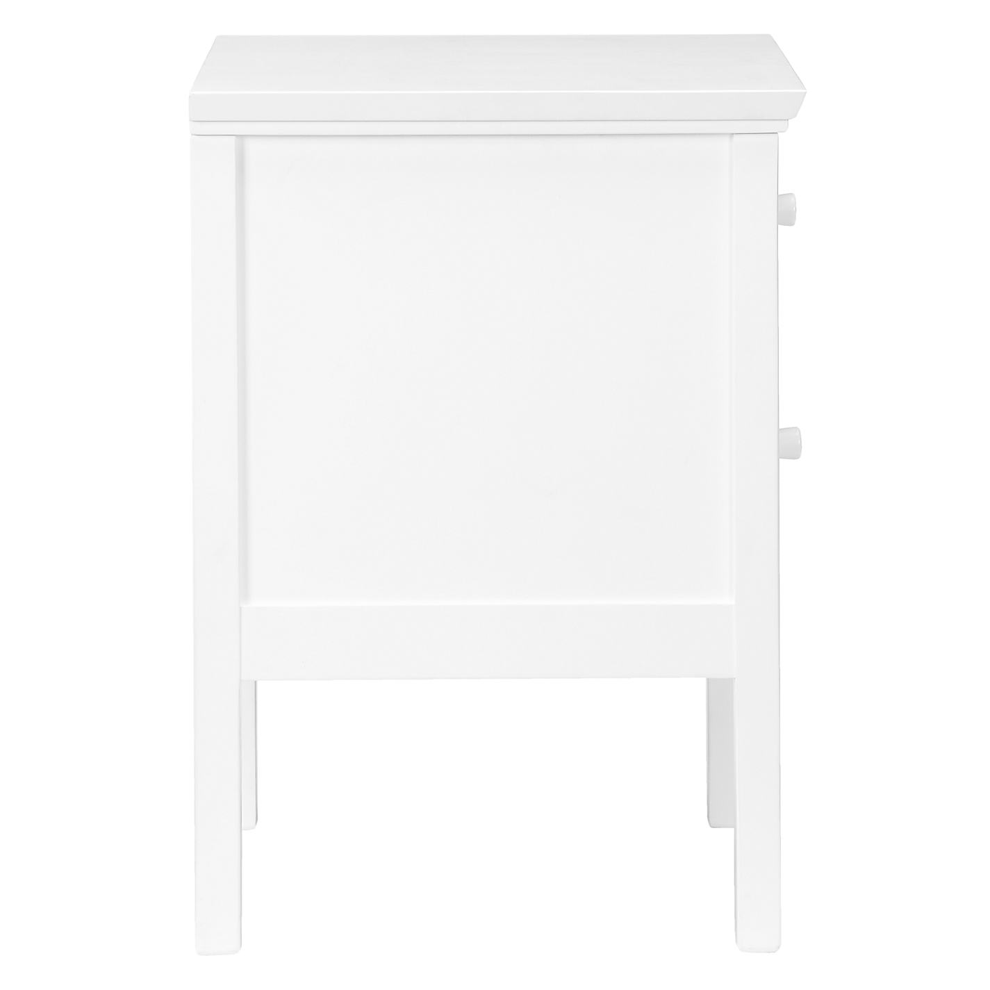 White bedside table - Buy John Lewis Wilton 2 Drawer Bedside Cabinet Online At Johnlewis Com