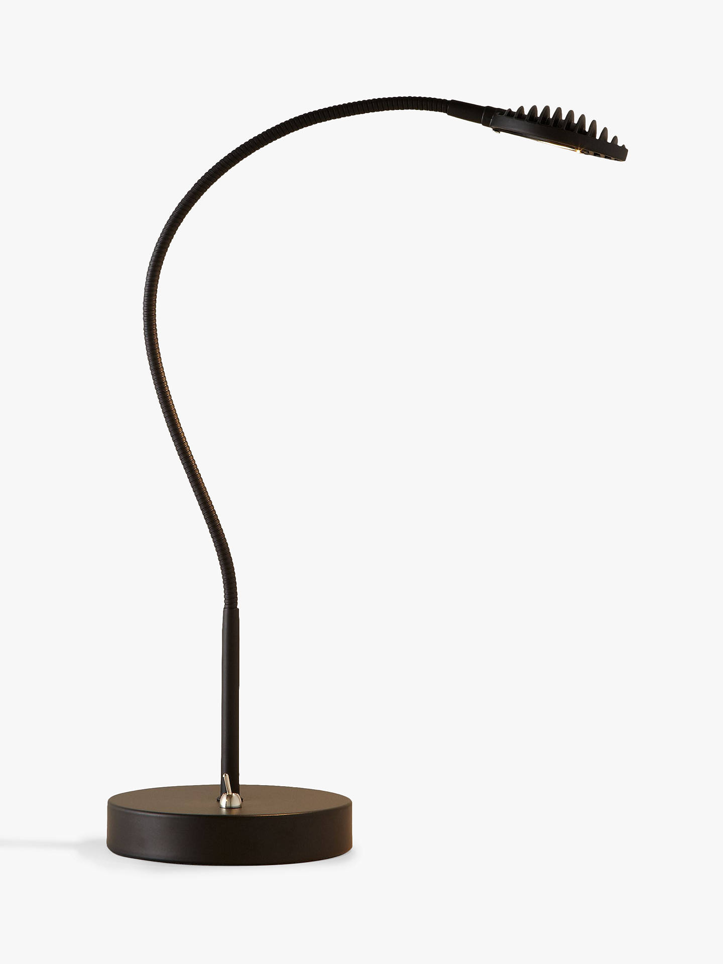 Buy John Lewis & Partners Mikkel LED Light Effect Task Lamp, Black Online at johnlewis.com