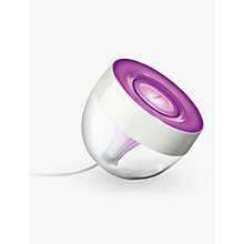 Buy Philips Friends of Hue LivingColors Iris Colour Changing LED Mood Light, Clear Online at johnlewis.com