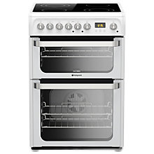 Buy Hotpoint HUE61PS Electric Cooker, White Online at johnlewis.com