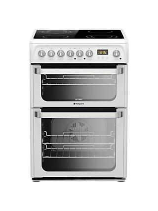 Hotpoint HUE61PS Electric Cooker, White