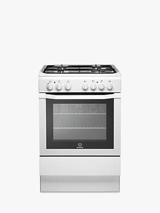 Indesit I6GG1W Gas Cooker, White