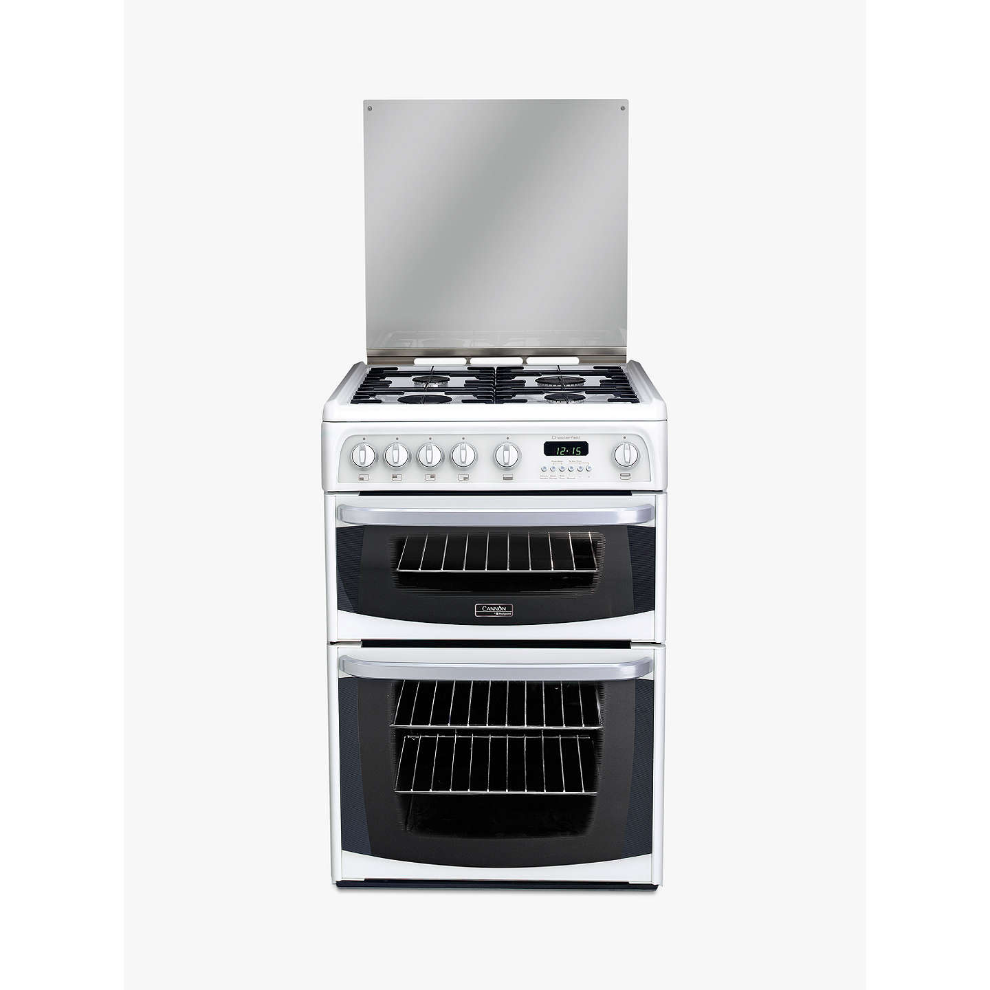 hotpoint cannon ch60gciw gas cooker white at john lewis. Black Bedroom Furniture Sets. Home Design Ideas