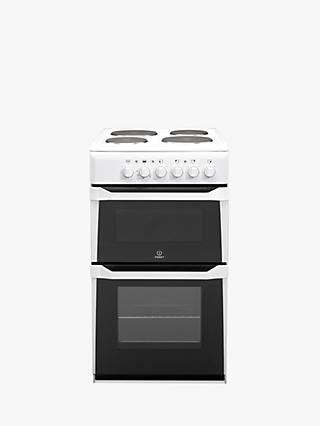 Indesit IT50EWS Electric Cooker, White