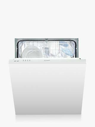 Indesit DIF 04B1 Ecotime Fully Integrated Dishwasher, White