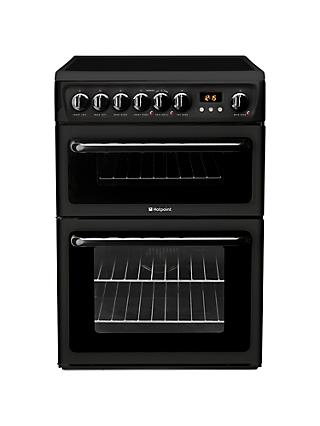 Hotpoint HAE60KS Electric Cooker, Black