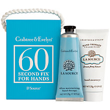 Buy Crabtree & Evelyn La Source 60 Second Fix Set, 2 x 25g Online at johnlewis.com