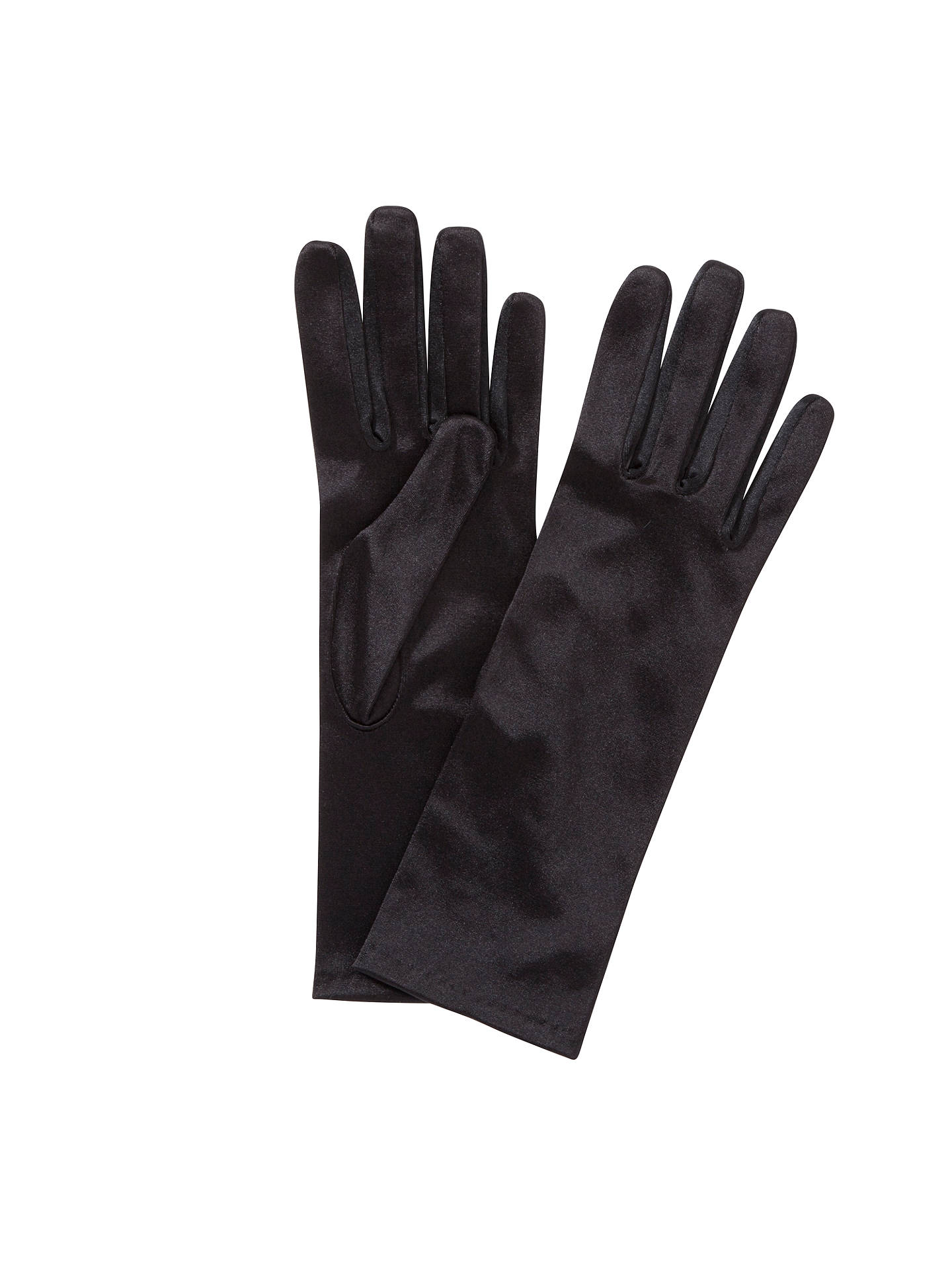 BuyJohn Lewis Satin Evening Gloves, Black Online at johnlewis.com