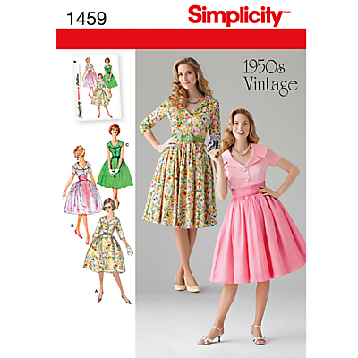 1950s Sewing Patterns- Dresses, Skirts, Tops, Pants Simplicity 1950s Vintage Dresses Sewing Pattern 1459 £8.95 AT vintagedancer.com