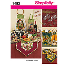 Buy Simplicity Craft Party Accessories Sewing Pattern, 1483 Online at johnlewis.com