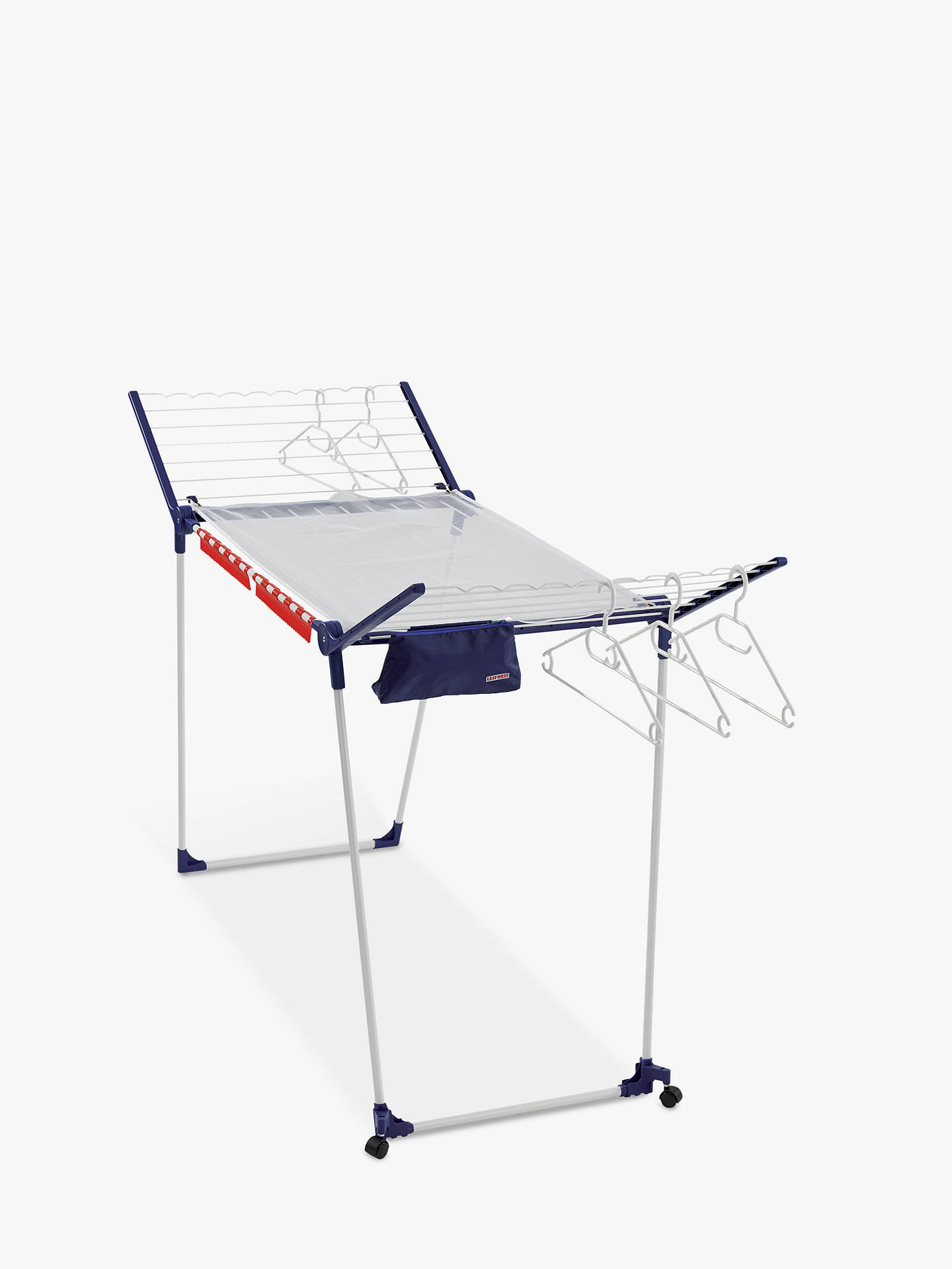 BuyLeifheit Pegasus 200 Deluxe Mobile Indoor Clothes Airer Online at johnlewis.com