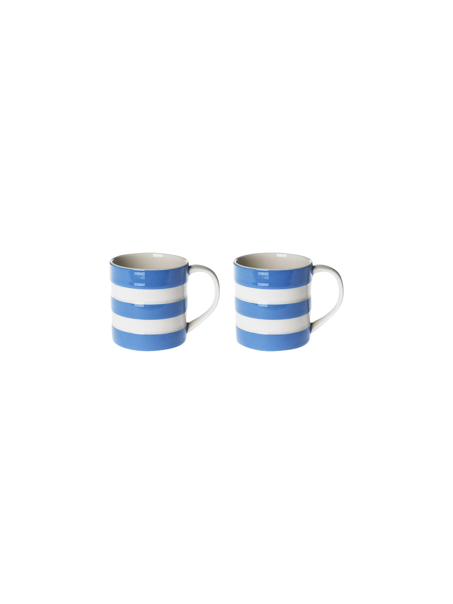 Buy Cornishware Mugs, Set of 2, Blue/White Online at johnlewis.com