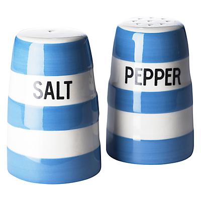 Cornishware Salt and Pepper Set, Blue/White