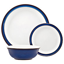 Buy Denby Imperial Blue Tableware Set, 12 Piece Online at johnlewis.com