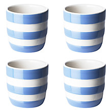 Buy Cornishware Egg Cup, Set of 4, Blue/White Online at johnlewis.com