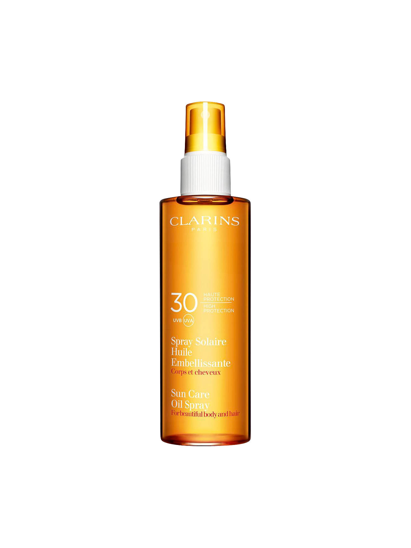 Buy Clarins Sun Care Oil Spray UVB 30 Online at johnlewis.com