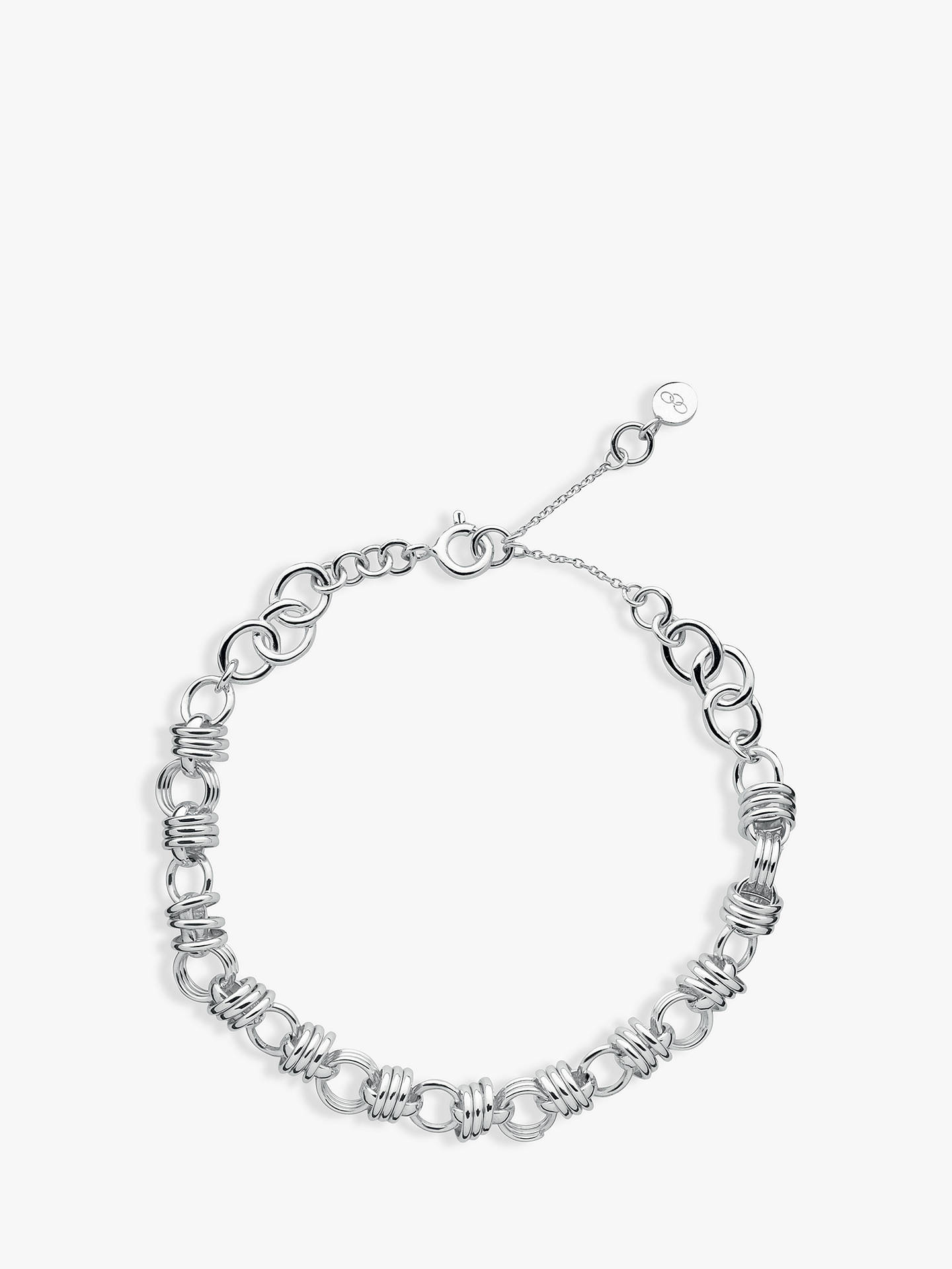 BuyLinks of London Sweetie XS Sterling Silver Chain Charm Bracelet, Silver Online at johnlewis.com
