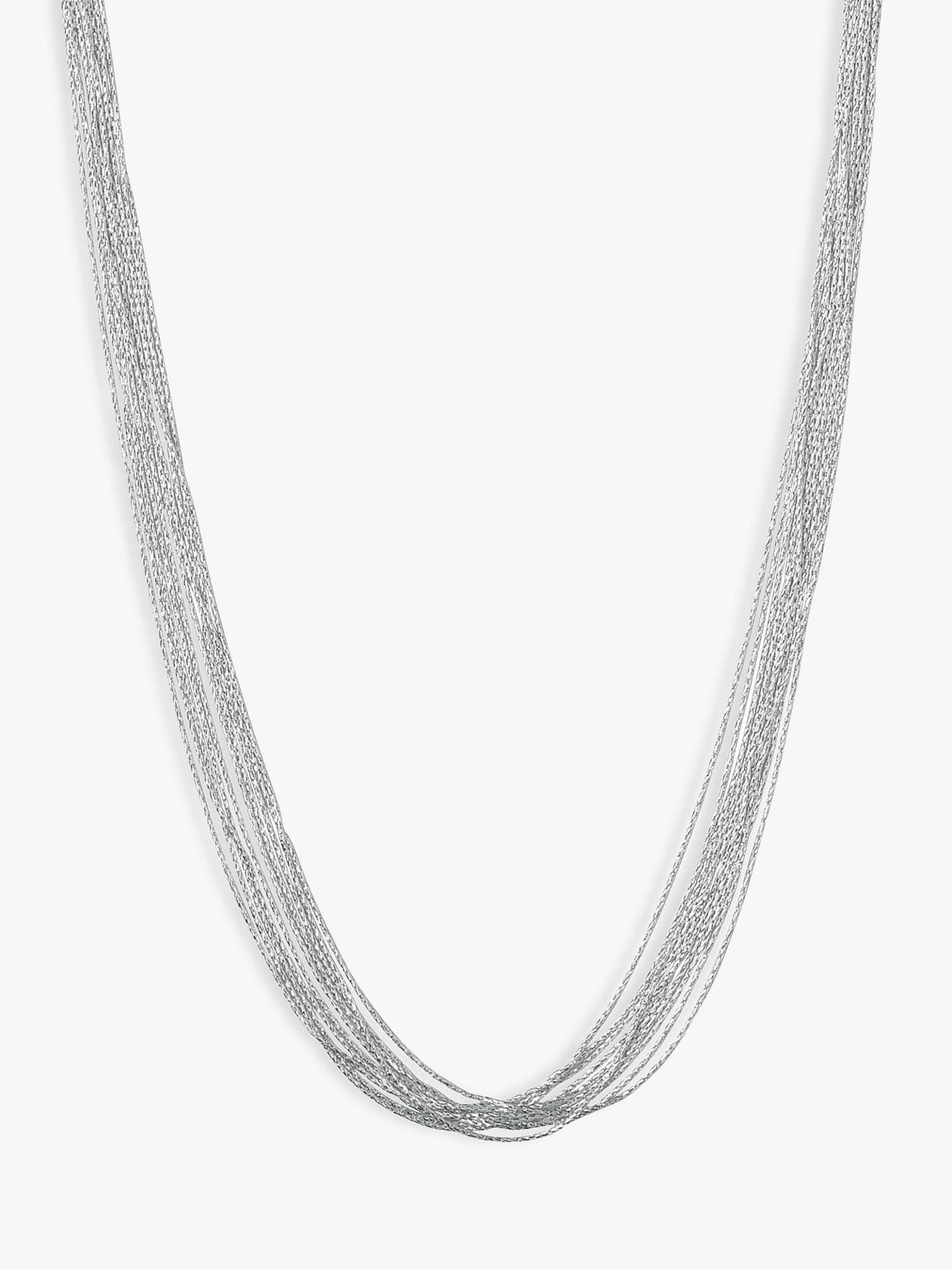 BuyLinks of London Essentials 10 Row Necklace, Silver Online at johnlewis.com