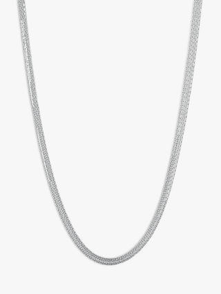 Buy Links of London Essentials Sterling Silver Silk 5 Row Necklace, Silver Online at johnlewis.com