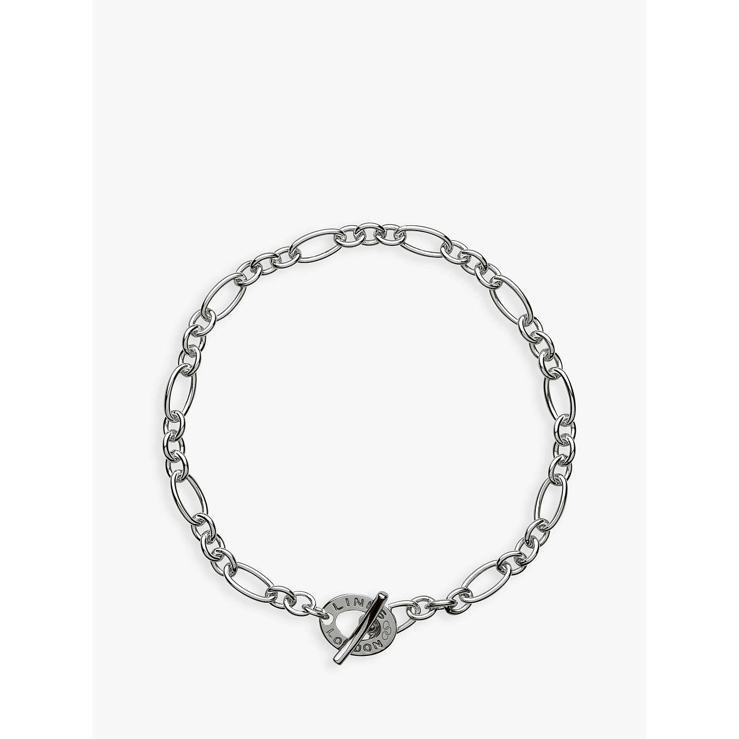 links sterling sweetie chain hires london en eu bracelet charm of silver