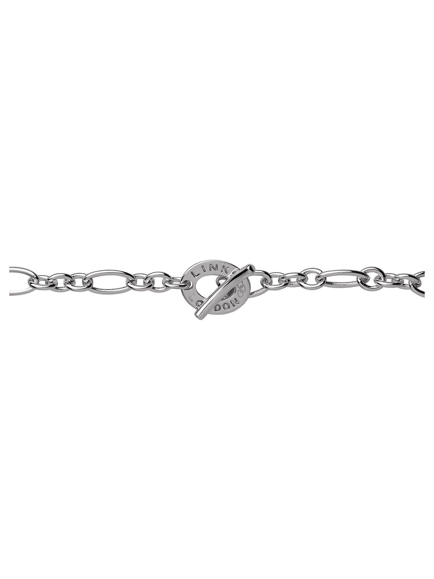 Links Of London Xs Sterling Silver Chain Charm Bracelet Silver At John Lewis Partners
