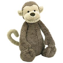 Buy Jellycat Bashful Monkey Soft Toy, Large, Brown Online at johnlewis.com