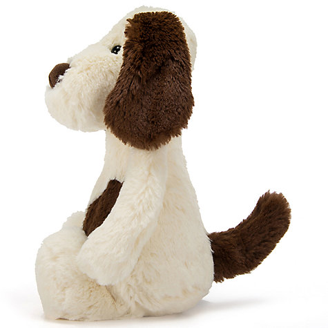 Buy Jellycat Bashful Dog Soft Toy, Cream/Brown, Small Online at johnlewis.com
