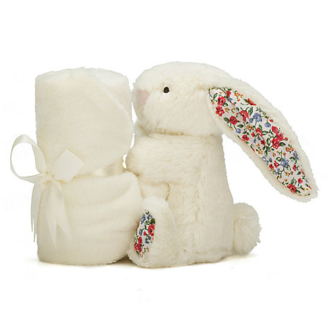 Buy Jellycat Blossom Bunny Baby Soother Soft Toy, One Size, Cream Online at johnlewis.com
