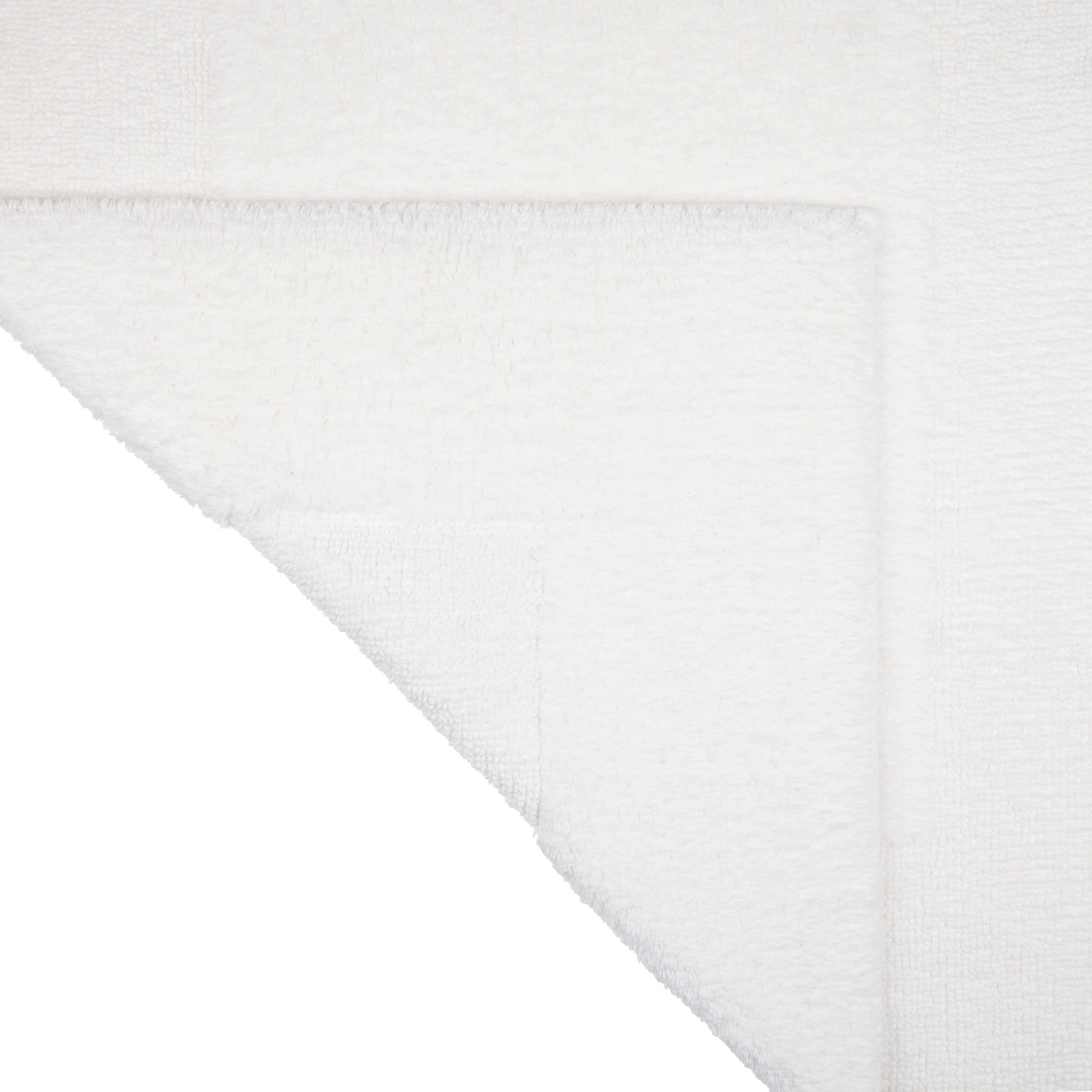 John Lewis Supreme Reversible Bath Rug Extra Large White
