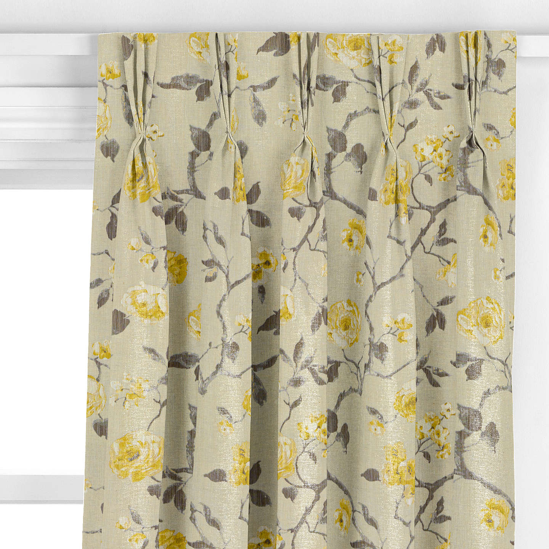 john lewis linen rose curtain yellow at john lewis. Black Bedroom Furniture Sets. Home Design Ideas
