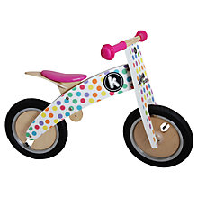 Buy Kiddimoto Kurve Balance Bike, Pastel Dotty Online at johnlewis.com