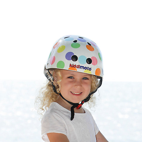 Buy Kiddimoto Pastel Dotty Helmet, Small Online at johnlewis.com