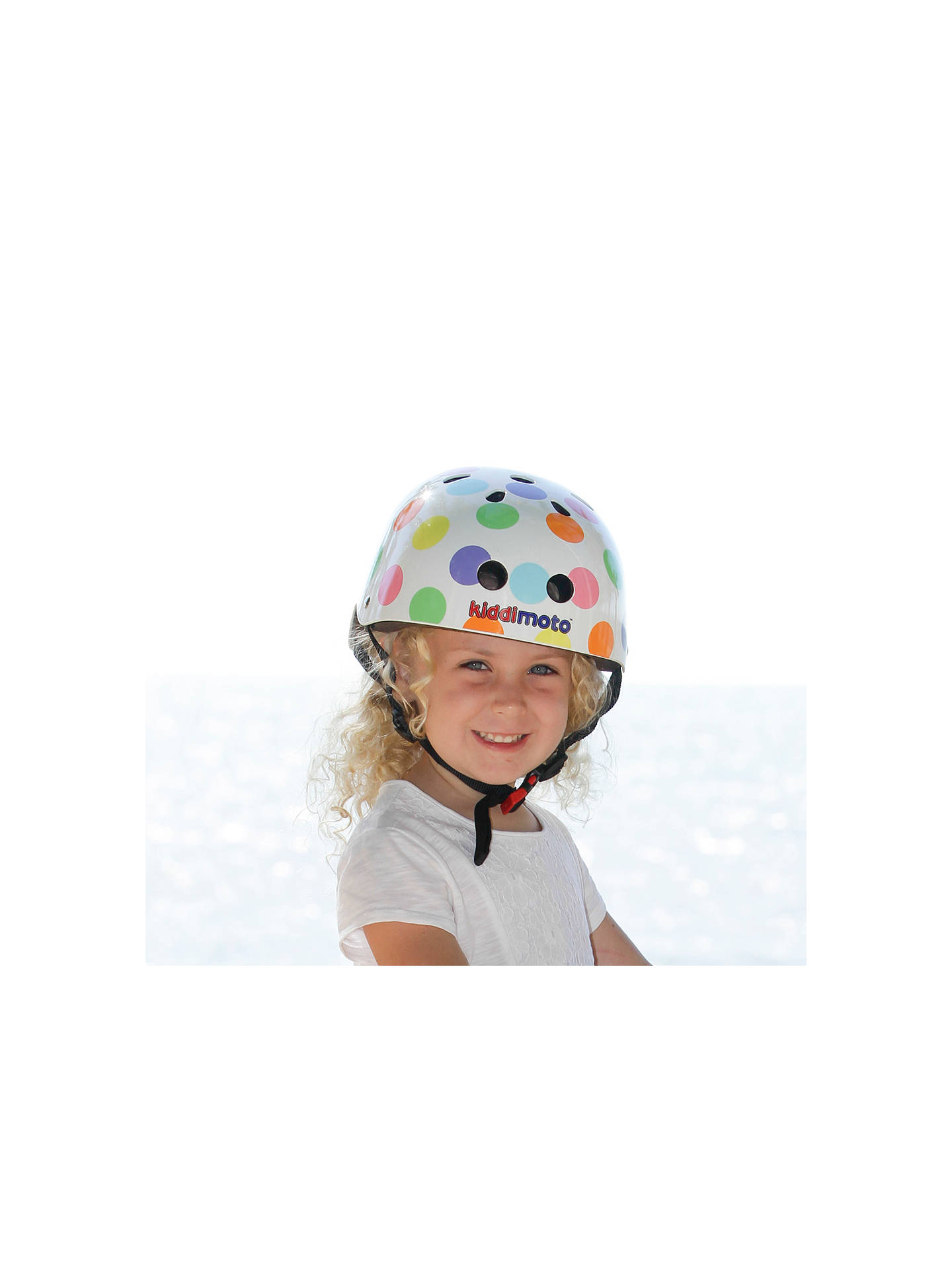 BuyKiddimoto Pastel Dotty Helmet, Small Online at johnlewis.com
