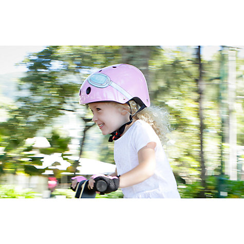 Buy Kiddimoto Pink Goggles Helmet, Small Online at johnlewis.com