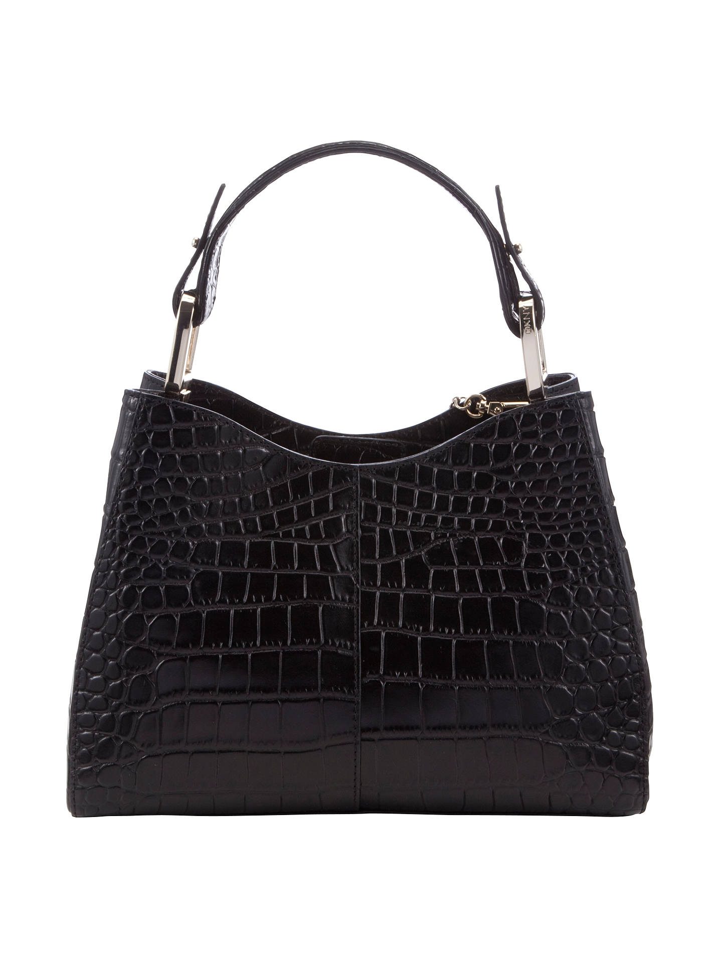 Buy DKNY Gramercy Crocodile Top Handle Grab Bag Online at johnlewis.com
