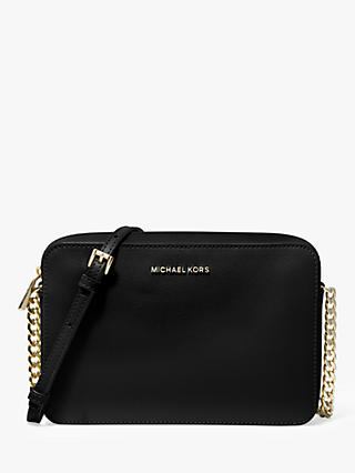 MICHAEL Michael Kors Jet Set Travel Leather East / West Cross Body Bag