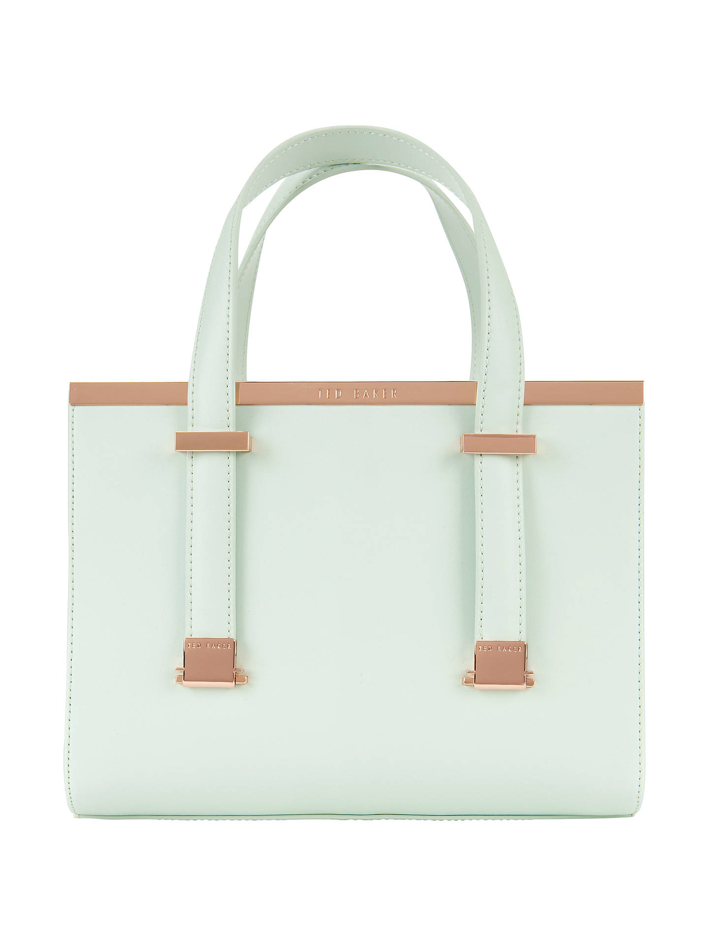 64aa6087855c3 Buy Ted Baker Betties Leather Mini Tote Bag, Mint Online at johnlewis.com  ...