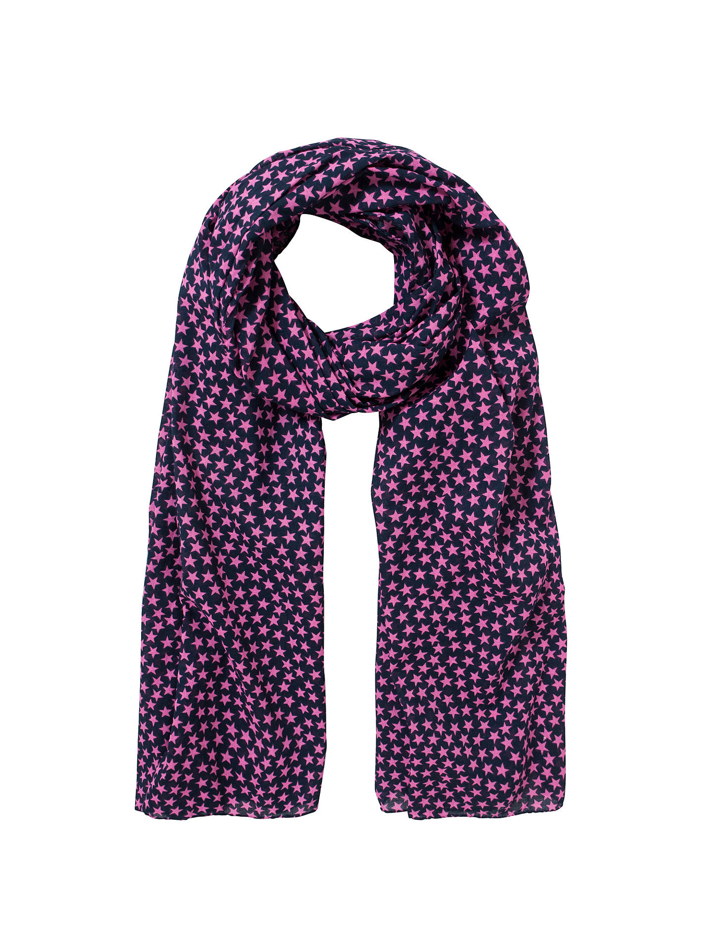 Buy Becksöndergaard Summer Star Scarf, Navy Online at johnlewis.com