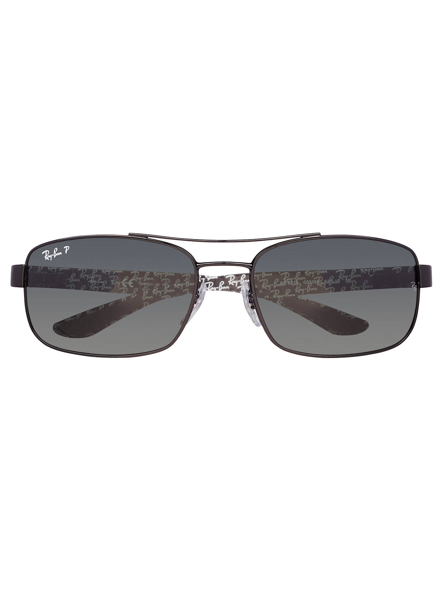 Buy Ray-Ban RB8316 Carbon Fibre Polarised Sunglasses, Black Online at johnlewis.com