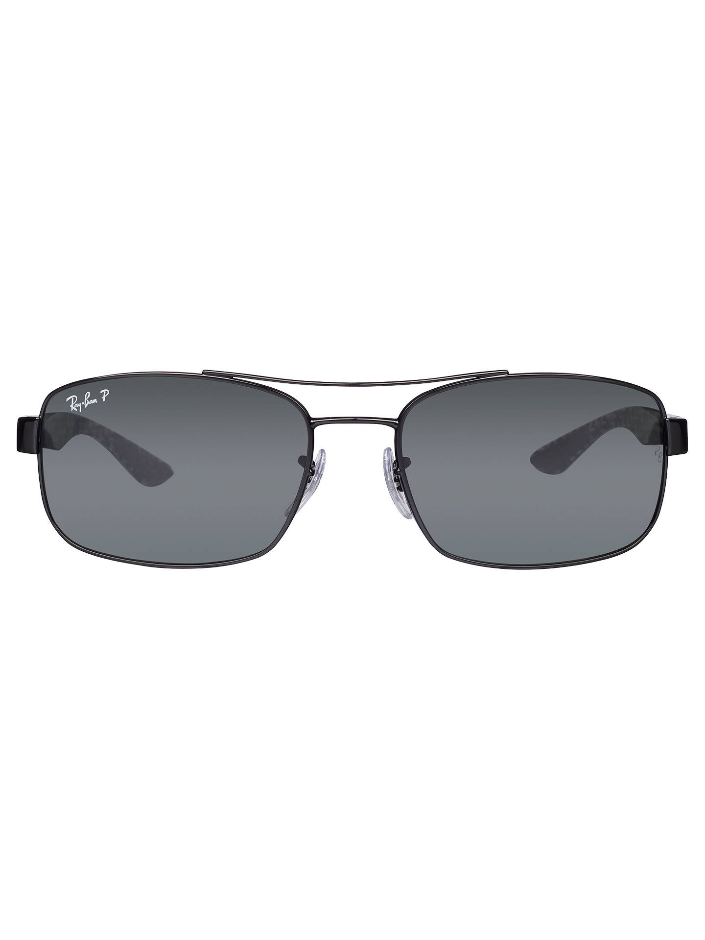BuyRay-Ban RB8316 Carbon Fibre Polarised Sunglasses, Black Online at johnlewis.com
