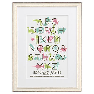 Letterfest Kid's Alphabet Framed Print, 56.8 x 44.8cm