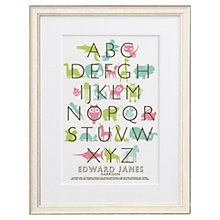 Buy Letterfest Kid's Alphabet Framed Print, 56.8 x 44.8cm Online at johnlewis.com
